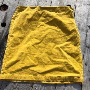 Old Navy Yellow Corduroy Skirt